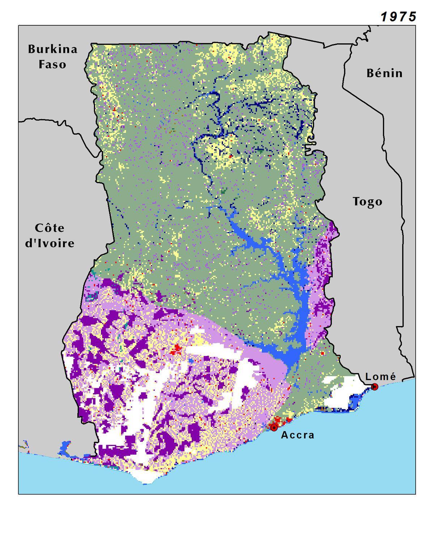 Fysisk Kort Af Ghana Topografisk Kort Over Ghana Vestlige