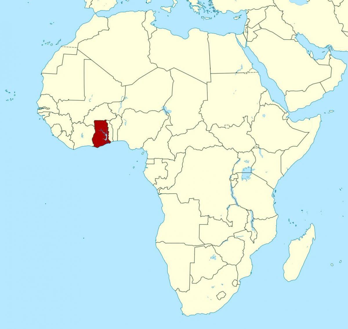 Ghana Afrika Kort Kort Over Afrika Der Viser Ghana Vestlige