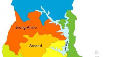 Ghana Kort Med Regionerne Kort I Ghana Der Viser Regioner